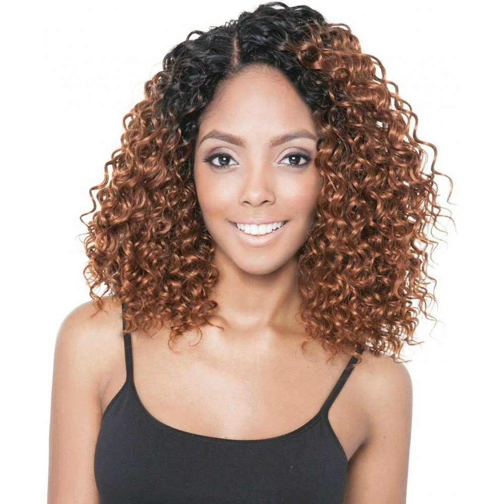 The Best Isis Collection Brazilian Ombre Human Hair Blend Weave – Beach Curl 4Pcs Human Hair Blend Pictures