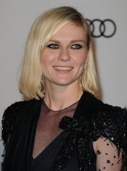 The Best Kirsten Dunst Mid Length Bob Hairstyle For Round Faces2 Pictures