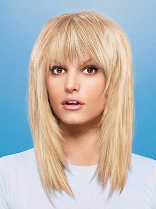 The Best 20 Best Medium Hair Cuts With Bangs Hairstyles And Pictures