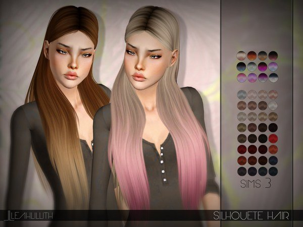 The Best Leahlillith Silhouette Hair The Sims 3 Download Simsdomination Pictures