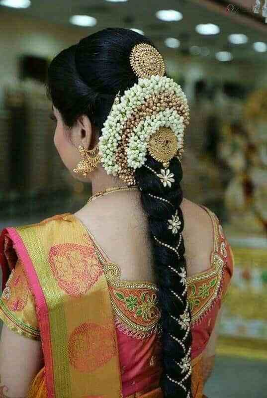 The Best 15 Popular South Indian Bridal Hairstyles For Engagement Pictures
