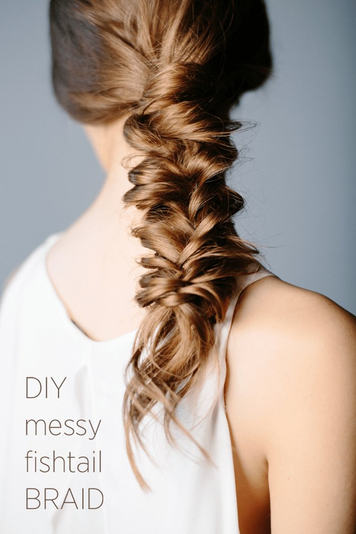 The Best Diy Messy Fishtail Braid Diy Weddings Oncewed Com Pictures