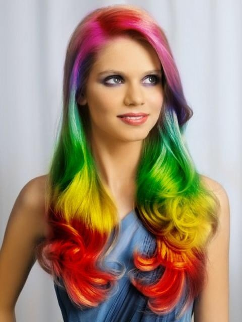 The Best 30 Rainbow Colored Hairstyles To Try Pretty Designs Pictures