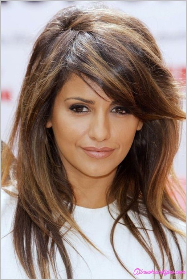 The Best Medium Length Haircuts With Side Swept Bangs And Layers Allnewhairstyles Com Pictures