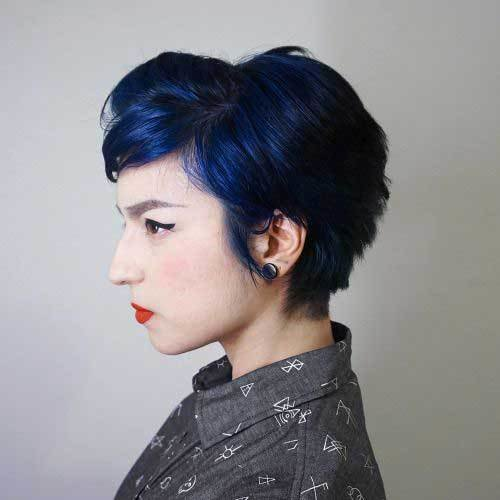 The Best Short Colored Hair Ideas With Different Styles Short Pictures