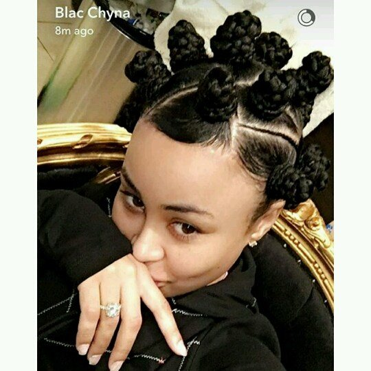 The Best Yay Or Nay Blac Chyna S New Bantu Knots Hairstyle Pictures