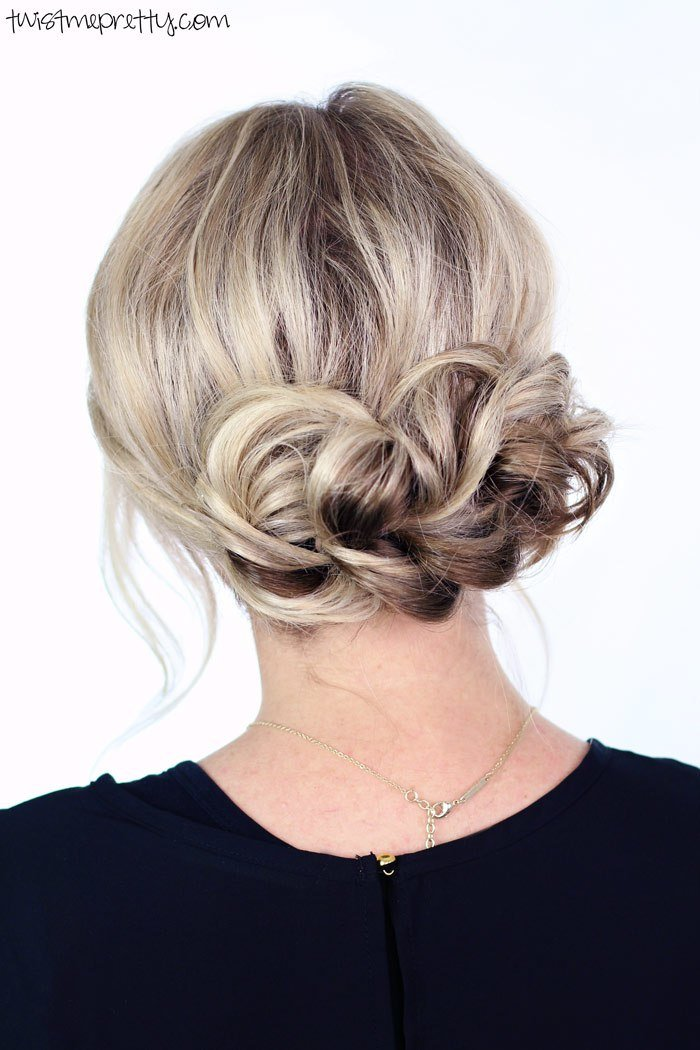 The Best Elegant Holiday Updo Twist Me Pretty Pictures