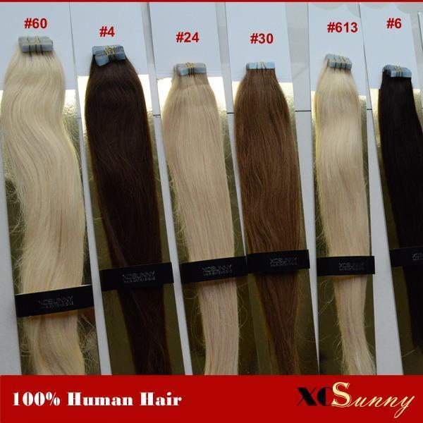 The Best Xcsunny Tape In Hair Extensions Remy Wavy 1820 Human Hair Pictures