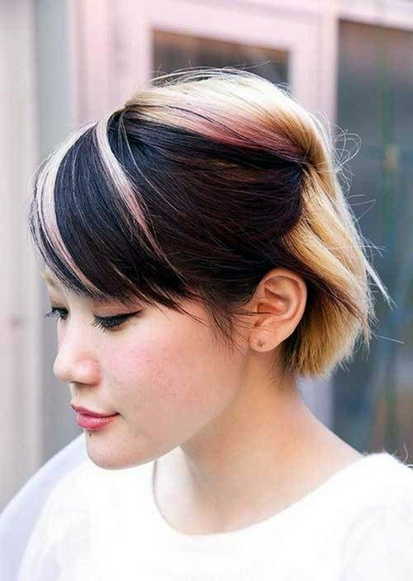 The Best 45 Graceful Two Tone Hair Color Ideas For Various Hairstyles Pictures