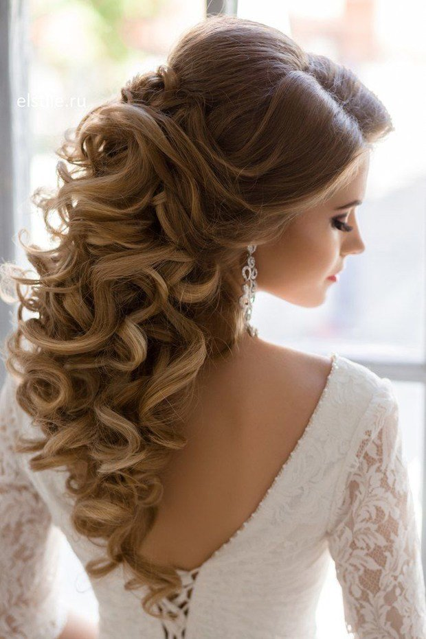 The Best 10 Gorgeous Half Up Half Down Wedding Hairstyles Pictures