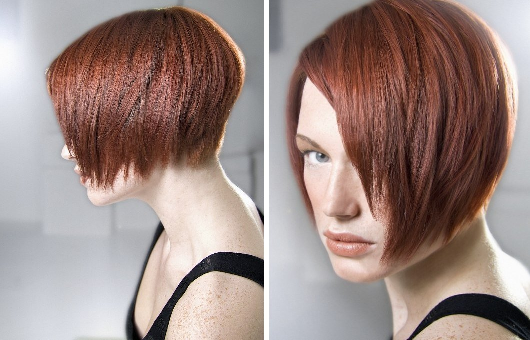 The Best Jaw Length Side Parted Bob With An Angle And A Graduated Pictures