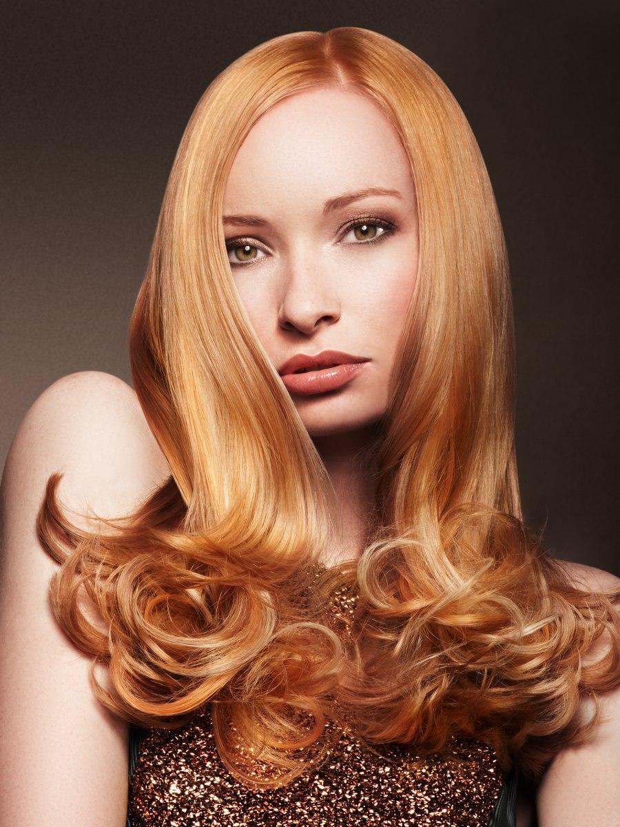 The Best Long Hair With Rounded Curls In The Tips For A Ladylike Look Pictures