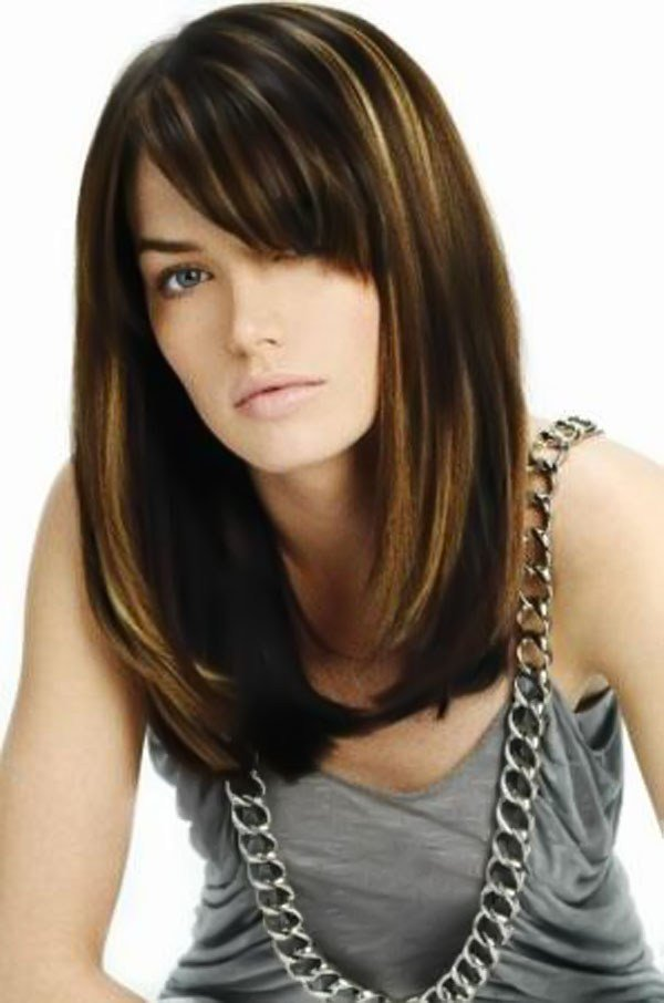 The Best 12 Long Haircuts With Bangs Learn Haircuts Pictures