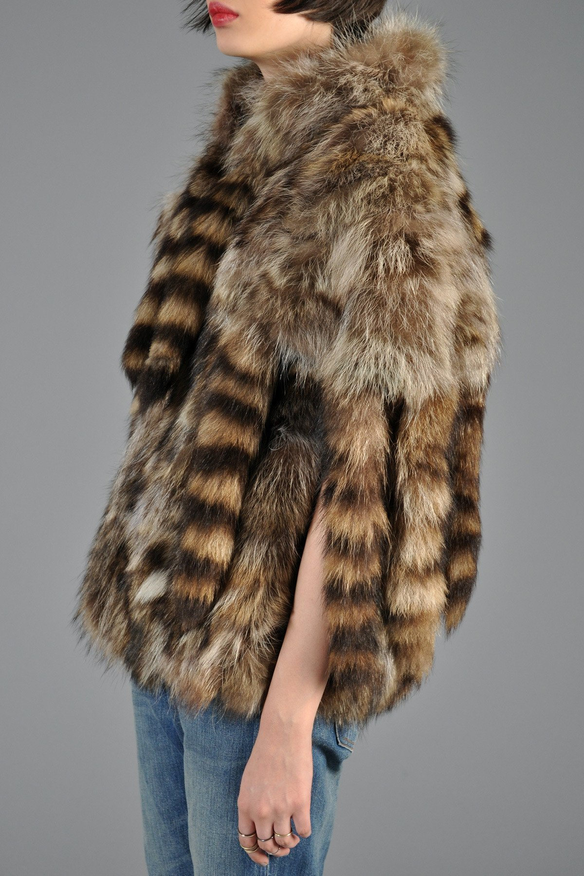The Best 70S Raccoon Tail Shaggy Fringe Vest Bustown Modern Pictures