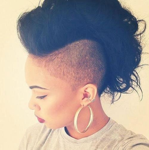 The Best Mohawk Hairstyles For Black Women Both Short And Long Pictures