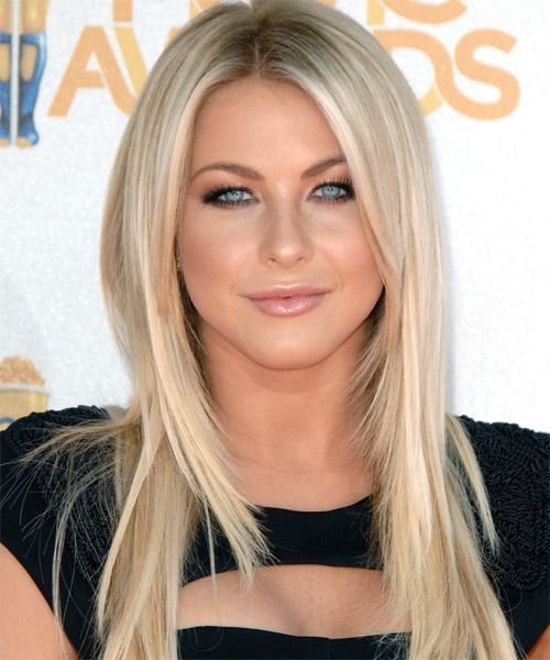 The Best Julianne Hough Long Straight Hairstyle Casual Party Pictures