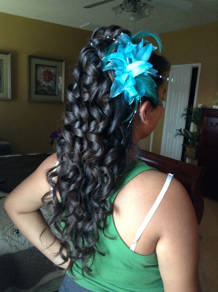 The Best Cute Curly Hairstyles For Quinceaneras Hairstyles By Pictures