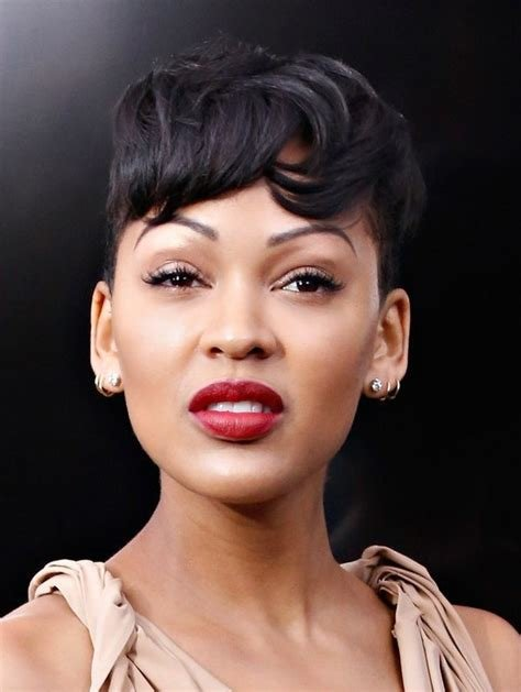 The Best Meagan Good Short Boyish Haircut With Messy Bangs Styles Weekly Pictures