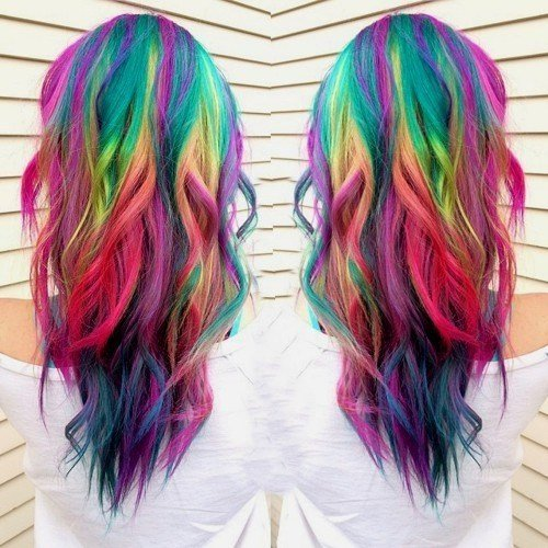 The Best 20 Rainbow Hair Pictures To Join The Unicorn Tribe Pictures