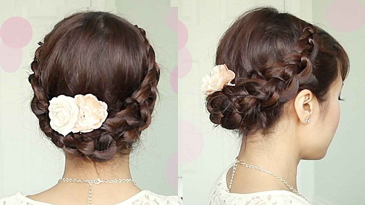 The Best Crochet Braid Updo Hairstyle For Medium Long Hair Tutorial Pictures
