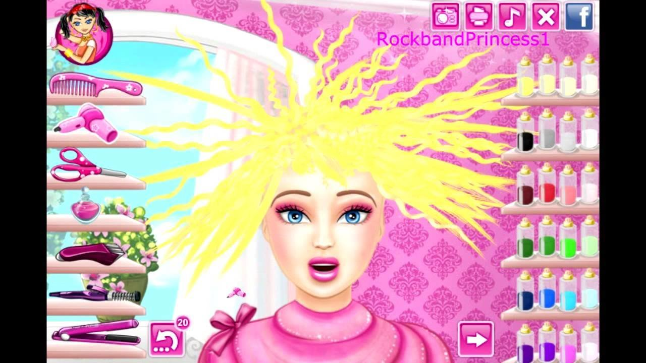 The Best Barbie Hair Cutting Game Barbie Makeover Game Youtube Pictures