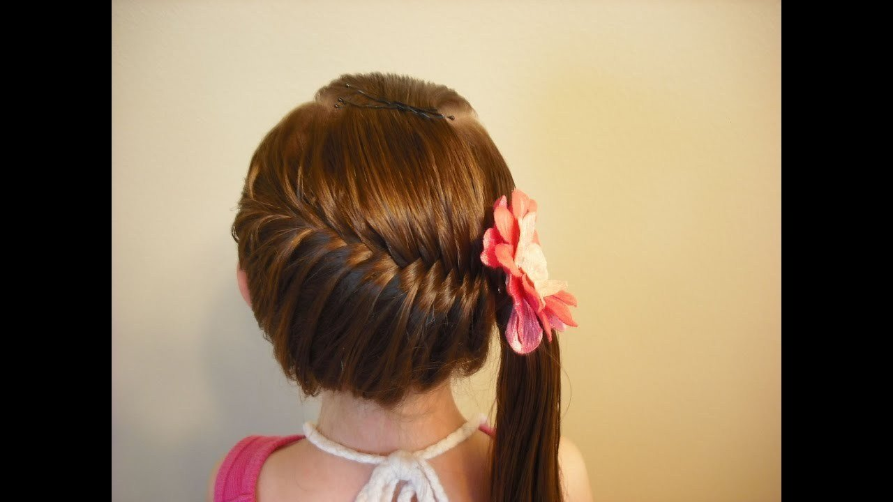 The Best Side Swept French Fish Braid Hairstyle Youtube Pictures