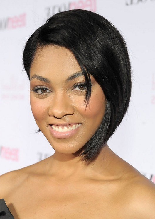 The Best Bria Murphy Trendy Black Graduated Bob Haircut For Short Pictures