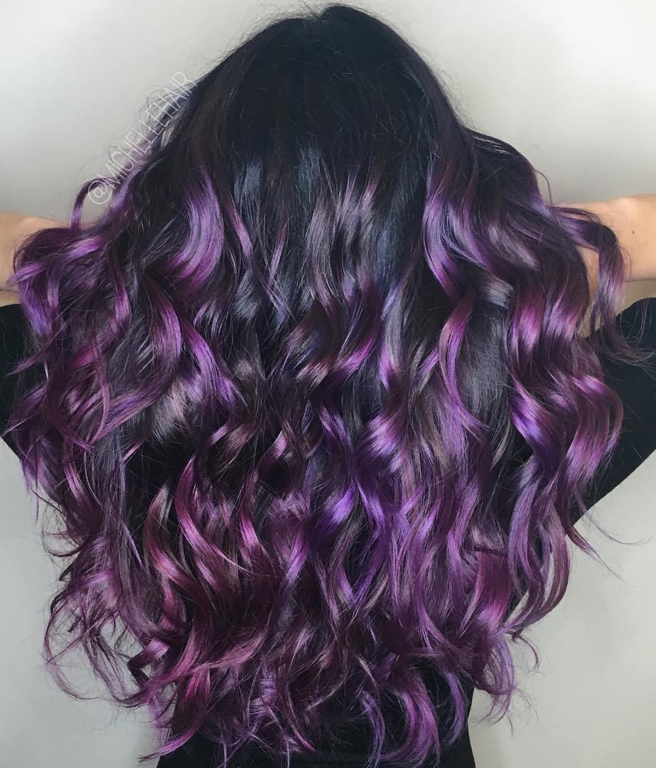 The Best 40 Versatile Ideas Of Purple Highlights For Blonde Brown Pictures