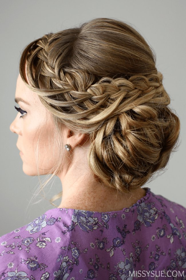 The Best Looped Braid Updo Pictures