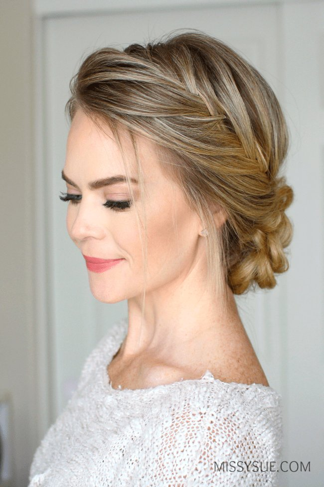 The Best French Fishtail Braid Updo Missy Sue Pictures