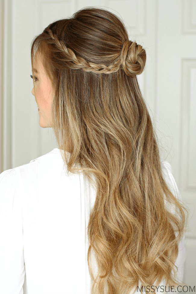 The Best Half Up Braid Wrapped Bun Missy Sue Pictures