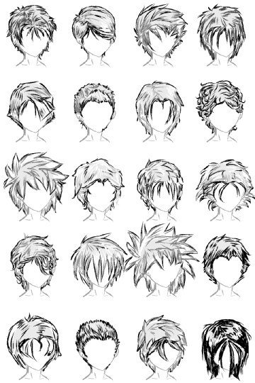 The Best 20 Male Hairstyles By Lazycatsleepsdaily On Deviantart Pictures