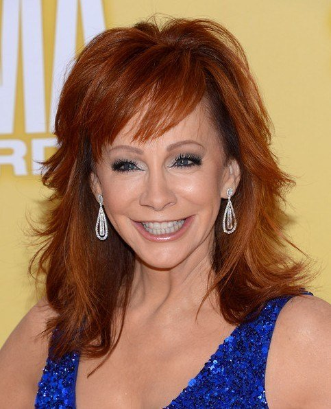 The Best 2013 Reba Mcentire Trendy Shaggy Medium Hairstyles For Women Popular Haircuts Pictures