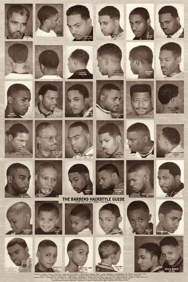 """The Best """"The Barber Hairstyle Guide"""" Black White Poster Rubinov S Pictures"""