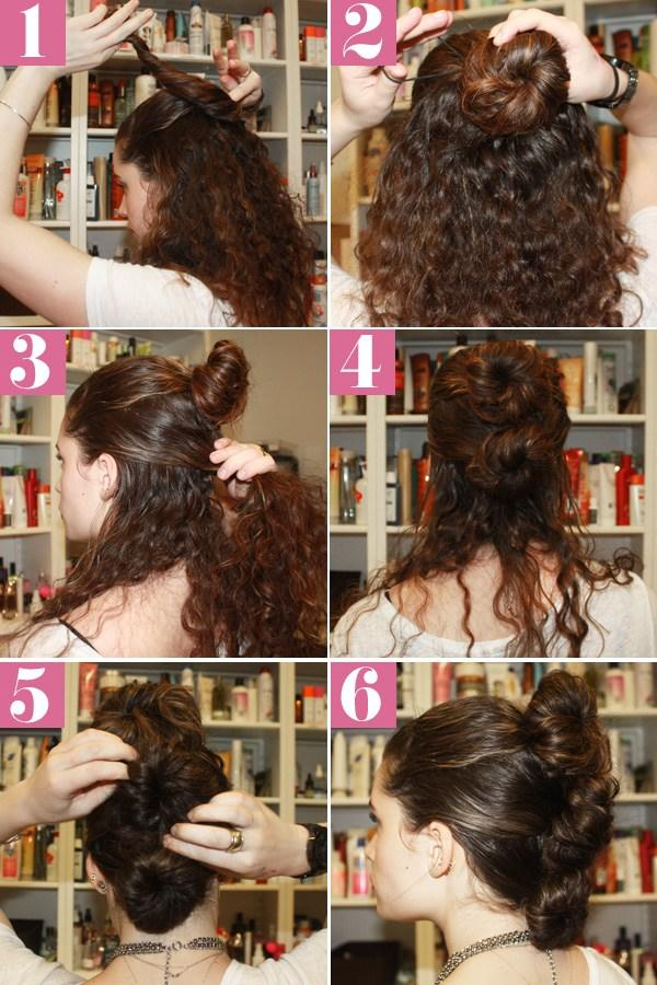 The Best Curly Fauxhawk Hair Style Simple Updos For Naturally Curly Hair Pictures