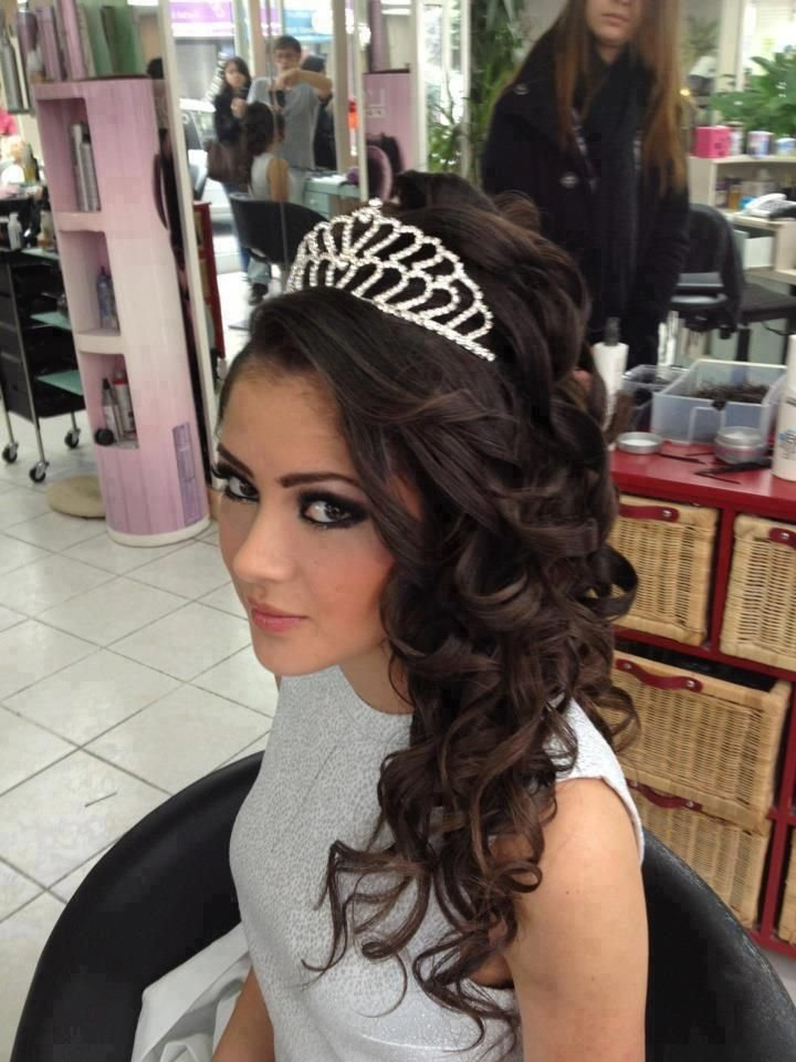 The Best Tiara Hairstyle Shayna Sweet 16 Pinterest Pictures