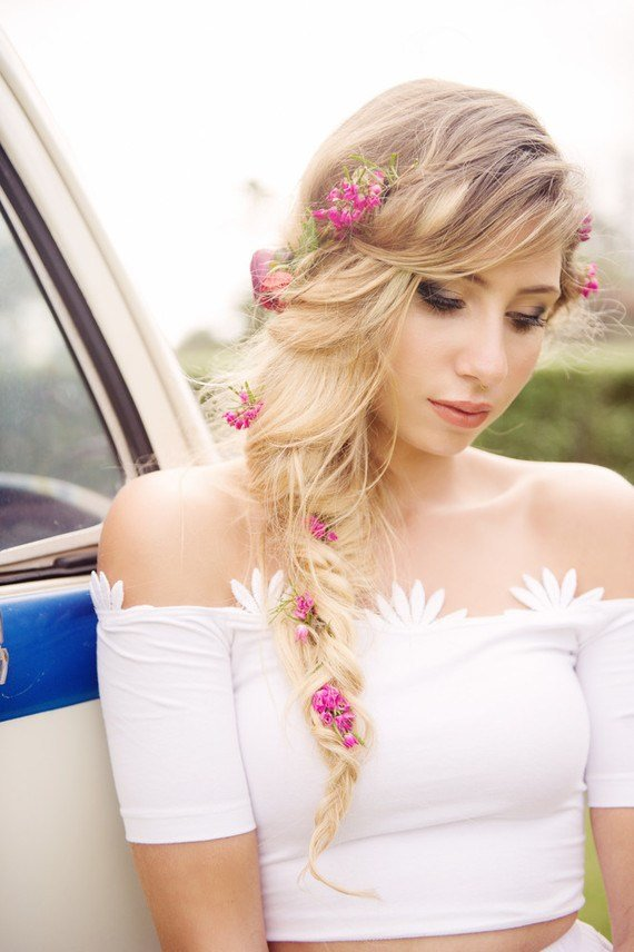 The Best Tropical Bridal Floral Hairstyle Wedding Party Ideas Pictures