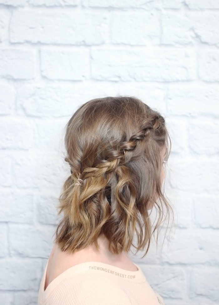 The Best Messy Braided Crown For Shorter Hair Tutorial Wonder Pictures