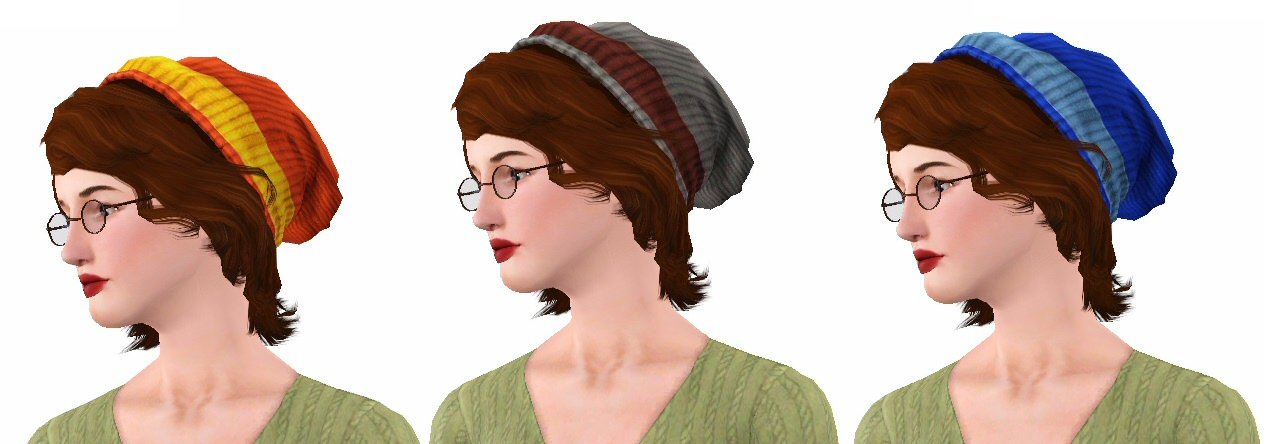 The Best My Sims 3 Blog University Life Beanie Hairstyle For All Pictures
