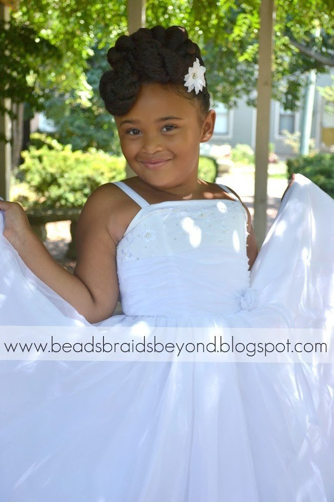 The Best Beads Braids And Beyond Natural Flower Girl Updo With Pictures
