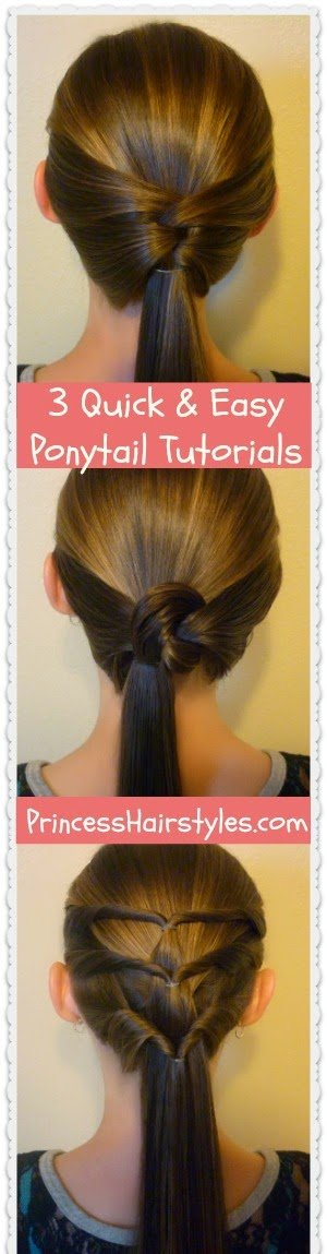 The Best 3 Quick And Easy Ponytail Hairstyles Hairstyles For Pictures