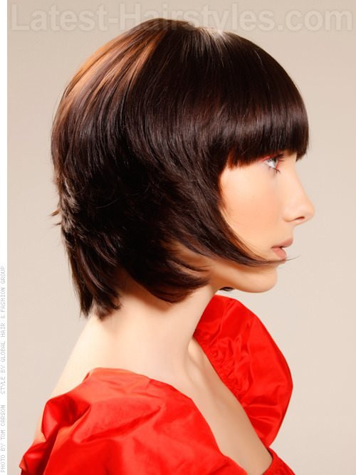 The Best Brunette Brilliance Short Shiny Tapered Look Side View Pictures