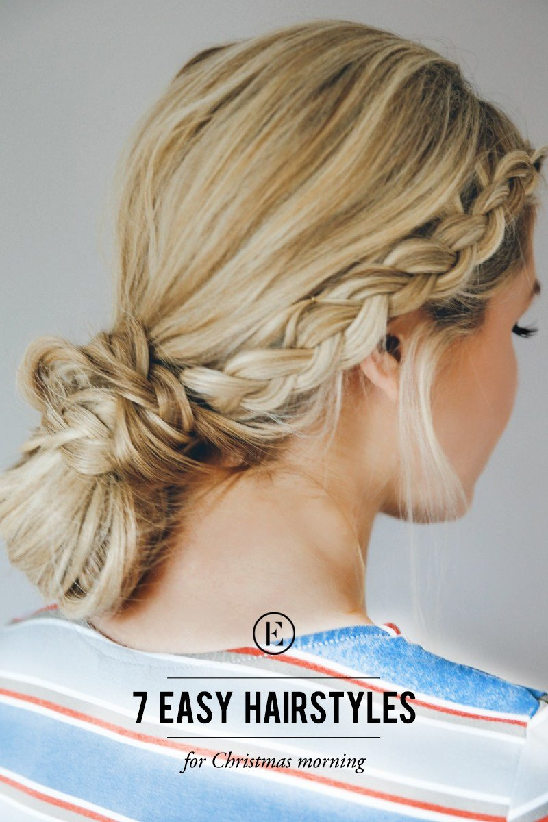 The Best 7 Easy Hairstyles For Christmas Morning The Everygirl Pictures