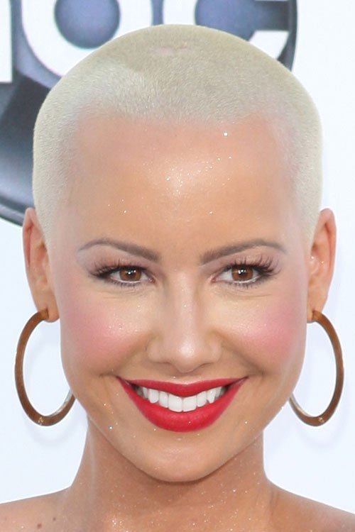 The Best Amber Rose Platinum Blonde Buzz Cut Hairstyle Steal Her Pictures