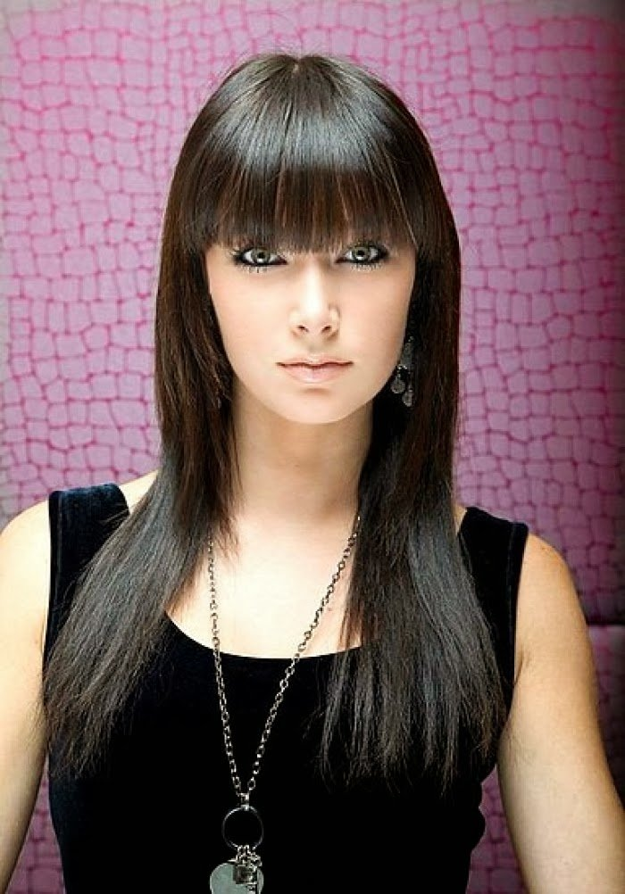 The Best Wysepka Fashion And Styles Looking Classic Using Long Hairstyles For Women With Bangs Pictures