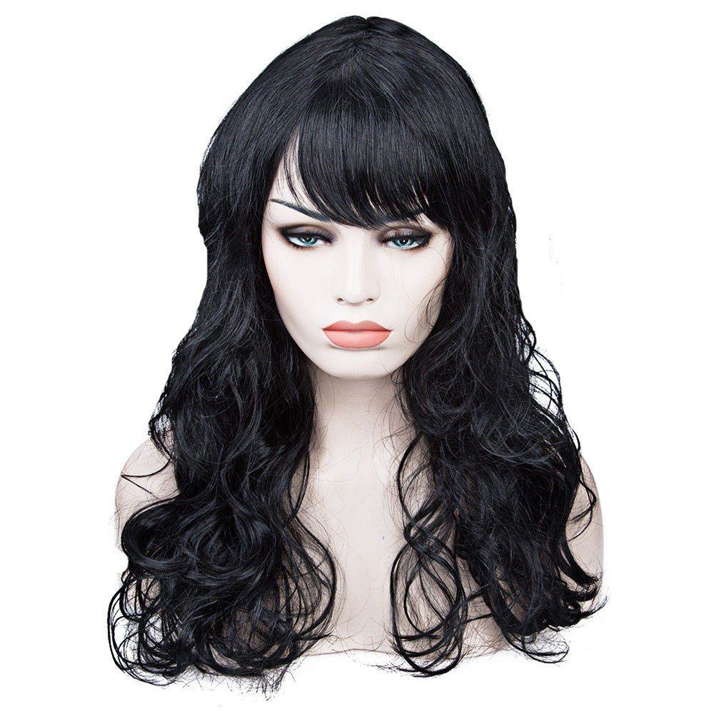 The Best Women S Long Big Wavy Wig Hair Fancy Dress Halloween Cosplay Party Costume Ebay Pictures