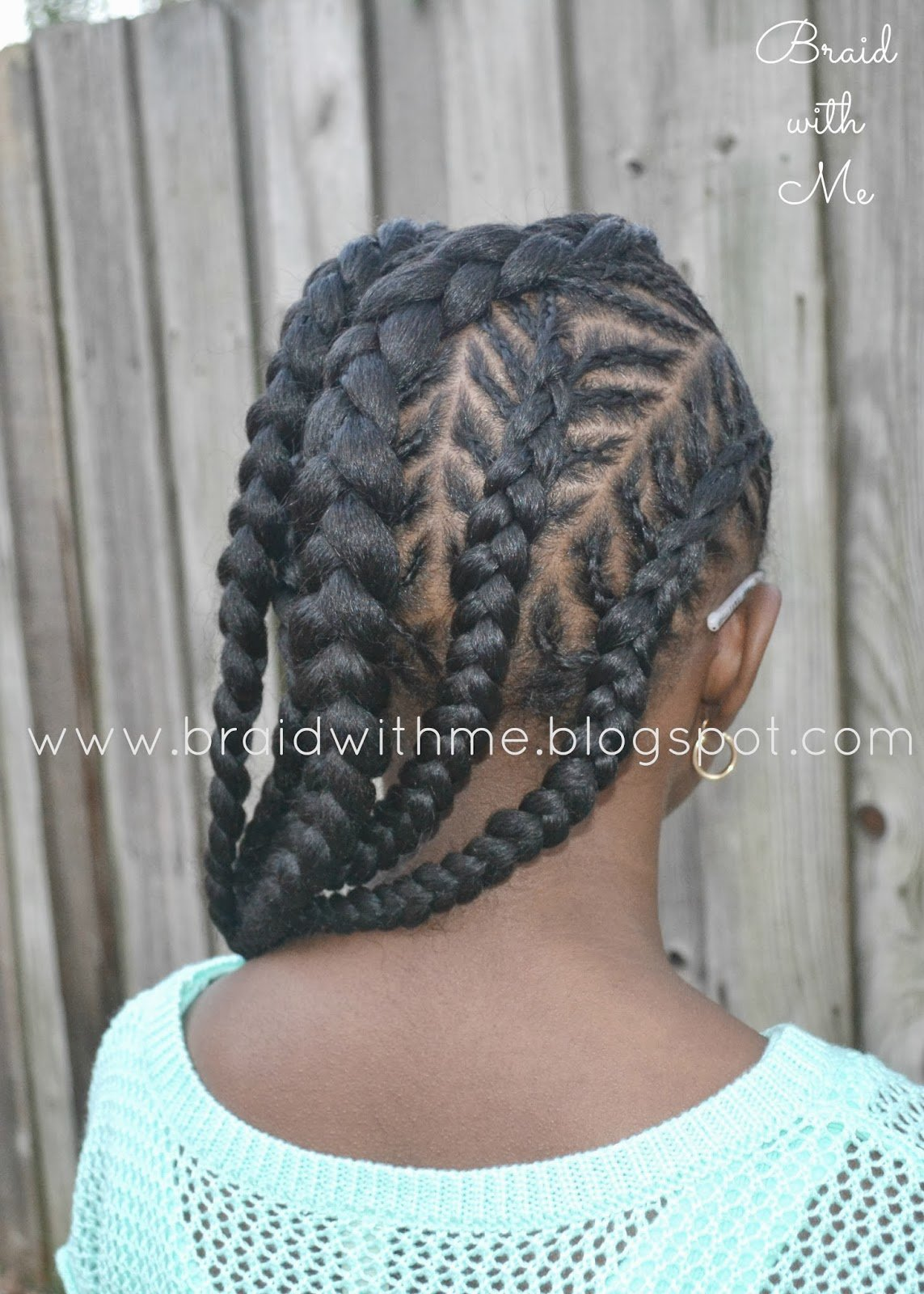 The Best Braid With Me Natural Styles For Kids Fish Bone Cornrows Pictures