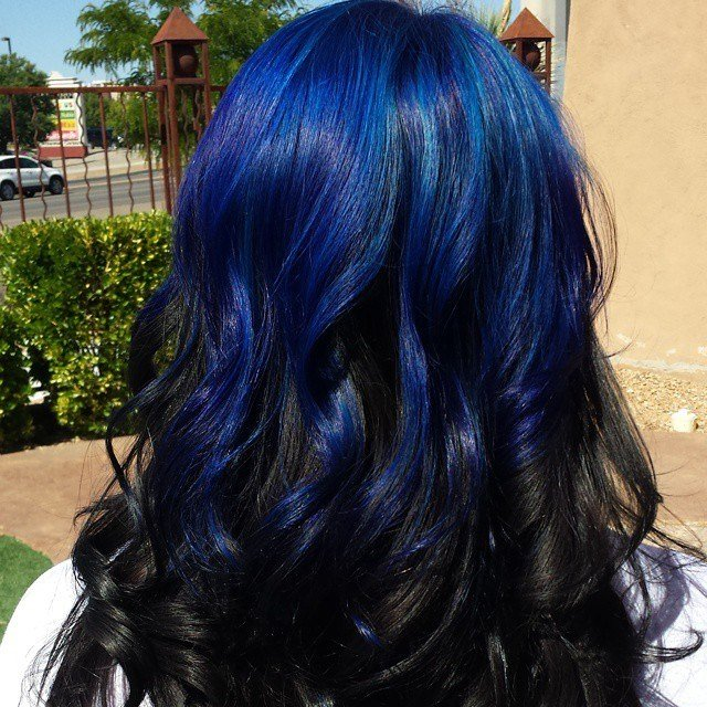 The Best Blue On Black Hair Colors Ideas Pictures