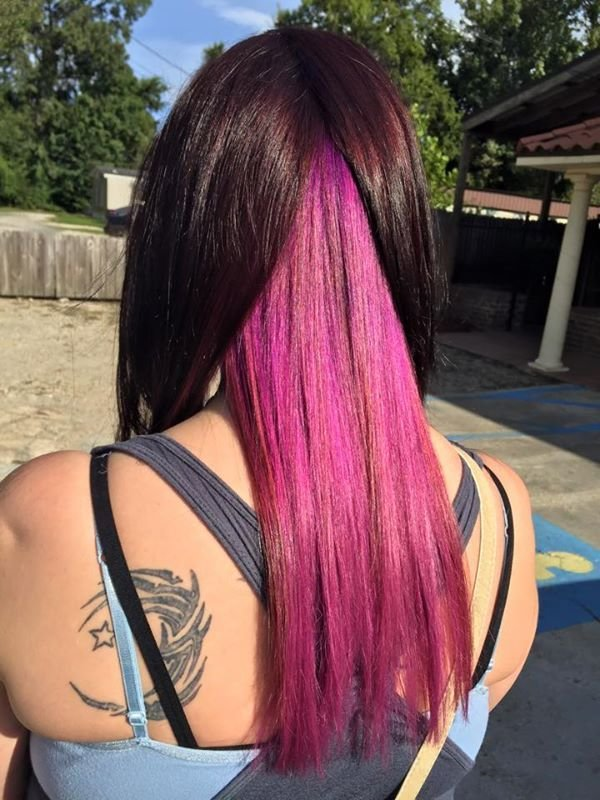 The Best Chocolate Brown Hair With Pink Underneath Hair Colors Ideas Pictures