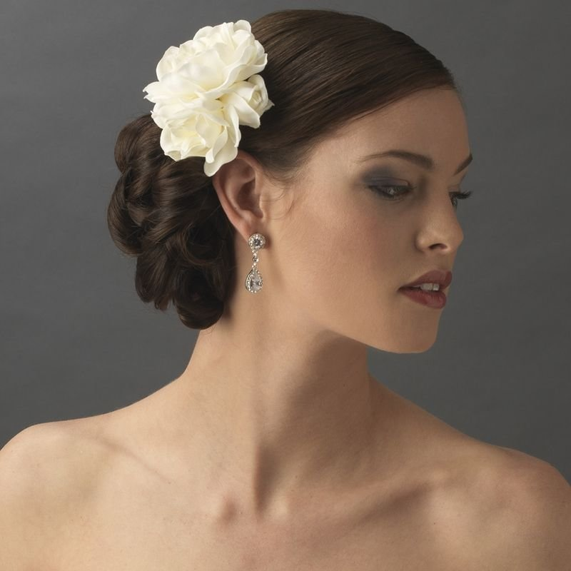 The Best Gardenia Cluster Bridal Hair Flower White Or Ivory Pictures